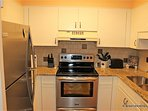 Galley Kitchen, fully equipped.  Stainless high quality appliances.