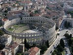 The famous historical city of Pula! Visit the Amphitheater!