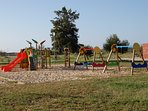 Childrens Play Area beside Manta Rota beach and close to restaurants and free public car park