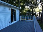 Deck off of kitchen (outside seating in warm months)