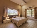 Air Conditioned Bedroom with 2 windows.