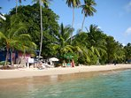 Ju ju's beach, closest beach, next to Lone Star restaurant