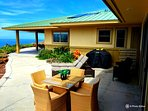 Private outdoor lanai with new BBQ and furnishings