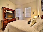 Second bedroom has flat screen TV.