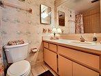 Plenty of room on master bathroom counter