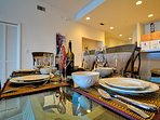 Many amenities provided in this waterfront vacation condo.