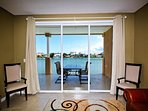 Great water view from the living room
