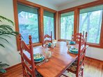 Enjoy your morning coffee in the sunroom.