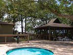 Guests are welcome to enjoy use of the kiddie pool, covered & screened pavilion and pool deck.