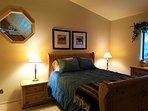 Bedroom Two, Upstairs. Queen bed.