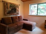 Loft area w/ lounge seating.