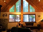 Forest views through the Chalet windows.