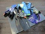Snorkeling sets rental