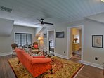 Warm hardwood floors complete the inside of this beautiful home.