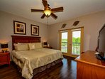Master Bedroom features king bed and flatscreen tv, ensuring your stay will be comfortable!