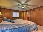 You're ensured a restful night on the master bedroom's king bed.