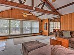 Large windows and vaulted ceilings bring the space to life!