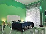 Stanza verde Green room