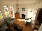 Sitting room with sea views of Cowes harbour