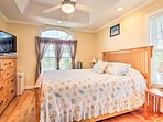 Fall right to sleep in this comfortable queen bed.