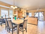 Host a beautiful family dinner at the 6-person dining table.