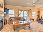 The 3BR, 2.5-bath duplex features 2,875 square feet of lovely living space.