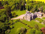 Arial view of Kinblethmont House