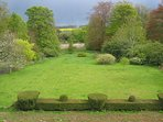 Lower lawn at Kinblethmont House
