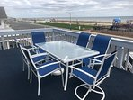 dining  while overlooking the shore line