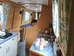 Fully equipped galley - 4 burner gas hob/grill/oven, refrigerator - to feed your hungry crew!