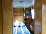 2 bed cabins can be configured with double or single berths; bathrooms bcum private ensuite at night