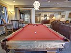 Enjoy a game of pool in Red Hawk Lodge.