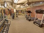 Fitness Center in the garage of Silver Mill.
