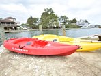 2 kayaks, life jackets, and paddles are available for your use