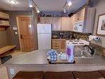Spacious kitchen area.
