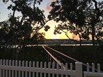 Sunset view from backyard.
