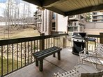 Grill a great dinner on your private deck while you watch skiers, hikers or bikers enjoying the Snowmass trails next to...