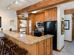 You will find everything you need to prepare all your favorite vacation meals in this fully stocked kitchen.