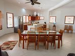 Fully equipped kitchen and dining