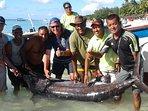 La pêche de Raja : un marlin de 140 kgs