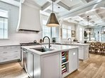 Your kitchen features a commercial-grade gas range for cooking up big meals.