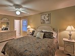 You'll find another queen bed in this fourth bedroom.
