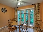 Sip your morning coffee at the cozy  breakfast nook.