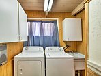 Keep clean with a spacious laundry room.