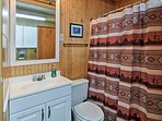 The second full bathroom also offers a shower/tub combo.