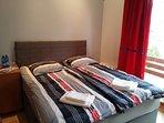 Double bedroom bed