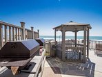 oceanfront Guest Grill area with gazebo