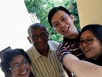 Selfie with visitors from China
