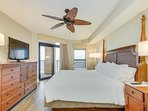 Master King Suite Bedroom with Private Entrance to the Oceanfront Balcony