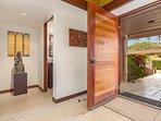 Elegant front door opens to foyer.